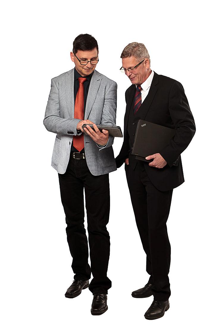 Geschäftsführer Joachim Buhlmann und Axel Stephan