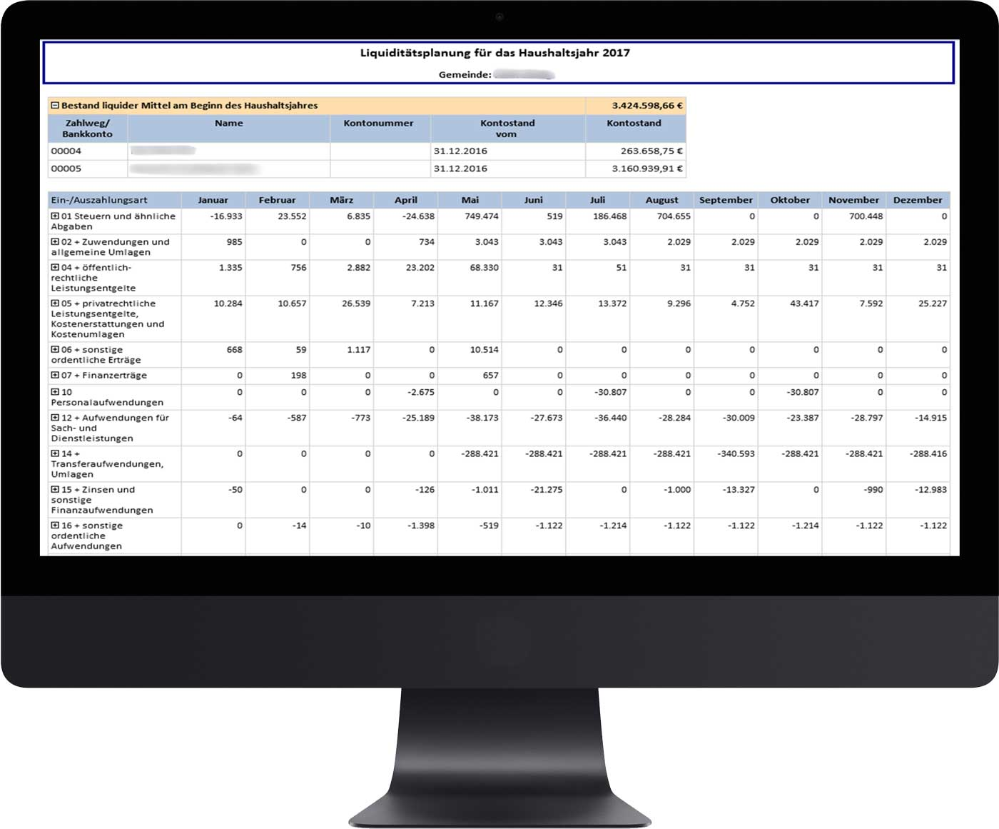 Liquiditätsplanung mit RBI ControlPLUS
